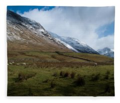 A View In The Mountains Fleece Blanket