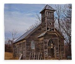 Abandoned Church Fleece Blanket