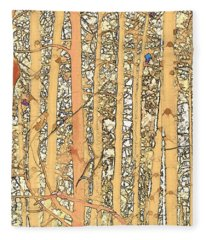 Abstract Aspens Fleece Blanket