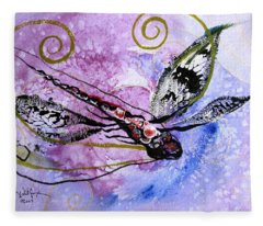 Abstract Dragonfly 6 Fleece Blanket