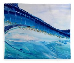 Abstract Marlin Fleece Blanket