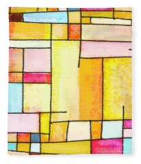 Abstract Town Fleece Blanket