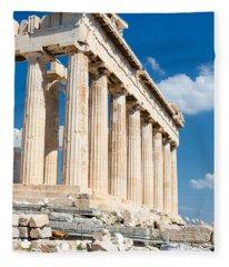 Acropolis Parthenon 3 Fleece Blanket