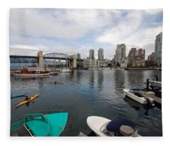 Across False Creek Fleece Blanket
