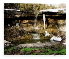 Alcove Spring And Waterfall Fleece Blanket