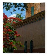 Alhambra Water Tower Windows And Door Fleece Blanket