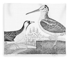 American Ornithology Fleece Blanket