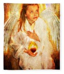 An Angels Heart  Fleece Blanket