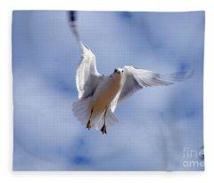 Applying Brakes In Flight Fleece Blanket