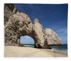 Arch Of Cabo San Lucas Fleece Blanket