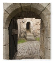 Archway - Entrance To Historic Town Fleece Blanket