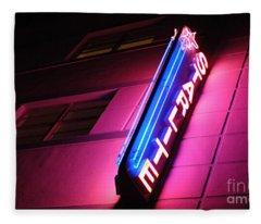 Starlite Hotel Art Deco District Miami 4 Fleece Blanket