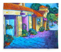Artist Village Fleece Blanket
