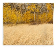 Aspen And Grass Fleece Blanket