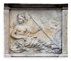 Athena Relief In Gdansk Fleece Blanket