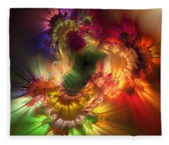 Auras Emotional Reflections Fleece Blanket
