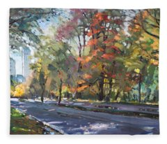 Autumn In Niagara Falls Park Fleece Blanket