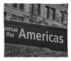 Avenue Of The Americas Fleece Blanket