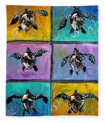 Baby Sea Turtles Six Fleece Blanket