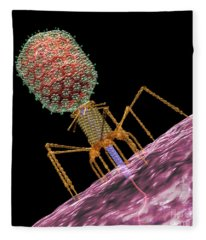 Bacteriophage T4 Injecting Fleece Blanket