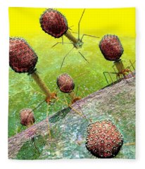 Bacteriophage T4 Virus Group 2 Fleece Blanket