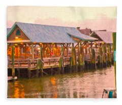 Bald Head Island Marina Fleece Blanket