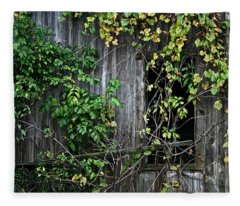 Barn Window Vine Fleece Blanket
