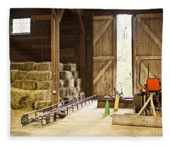 Farm Tool Fleece Blankets