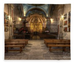 Baroque Church In Savoire France 4 Fleece Blanket