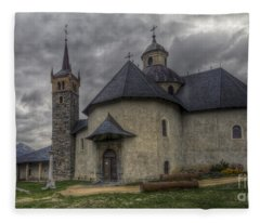 Baroque Church In Savoire France 6 Fleece Blanket