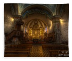 Baroque Church In Savoire France Fleece Blanket
