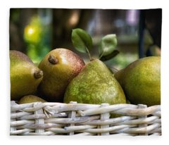 Basket Of Pears Fleece Blanket