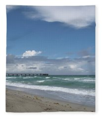 Beatiful Beach Fleece Blanket