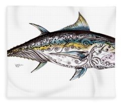 Beautiful Blue Fin Fleece Blanket