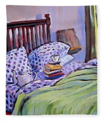 Bed And Books Fleece Blanket