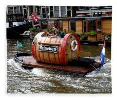 Beer Boat Fleece Blanket