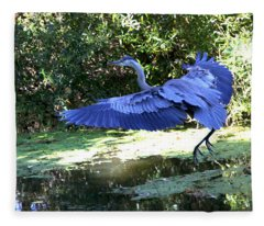 Big Blue In Flight Fleece Blanket