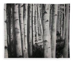 Birch Fleece Blanket