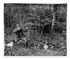 Bird Shooting, 1886 Fleece Blanket