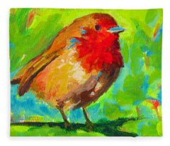 Birdie Bird - Robin Fleece Blanket