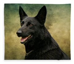 Black German Shepherd Dog IIi Fleece Blanket