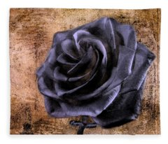 Black Rose Eternal   Fleece Blanket