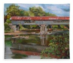 Blair Bridge Campton New Hampshire Fleece Blanket