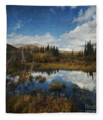 Blissful Lone Land Fleece Blanket