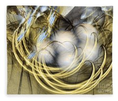 Blue Lullaby - Abstract Art Fleece Blanket