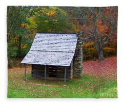 Blue Ridge Cabin Fleece Blanket