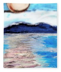 Blue Sunrise Rendered Fleece Blanket