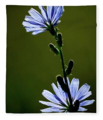 Blue Wildflower Fleece Blanket