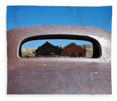 Bodie Ghost Town I - Old West Fleece Blanket
