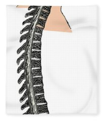 Brain And Spinal Cord Fleece Blanket